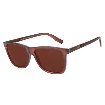 Óculos de Sol Masculino Loucuras da Nobreza Tróia Marrom OC.CL.3150-0202