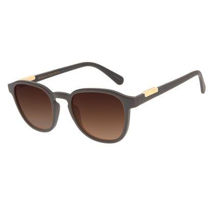 Óculos de Sol Masculino Loucuras da Nobreza Luís XIV Degradê Marrom OC.CL.3151-5702