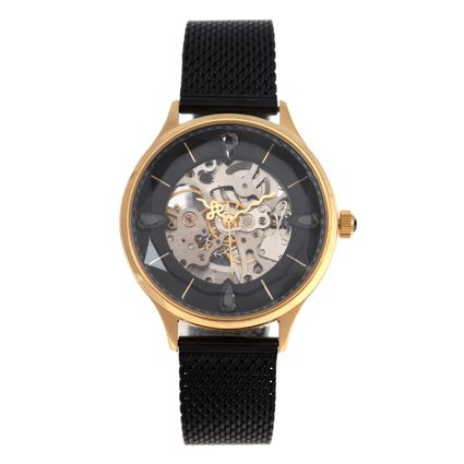 Relógio Automático Feminino Loucuras da Nobreza Cleópatra Preto RE.MT.1153-0101