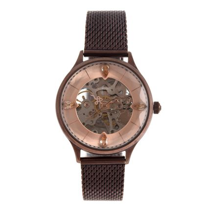 Relógio Automático Feminino Loucuras da Nobreza Cleópatra Rosé RE.MT.1153-9502