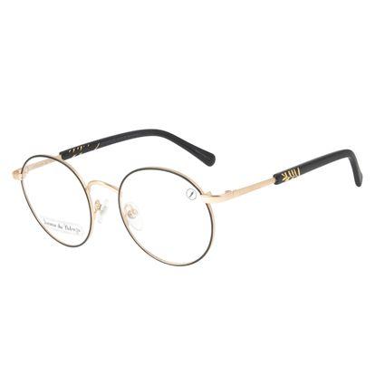 Armação para Óculos de Grau Loucuras da Nobreza Helena de Troia Feminino Dourado Escuro LV.MT.0476-0707