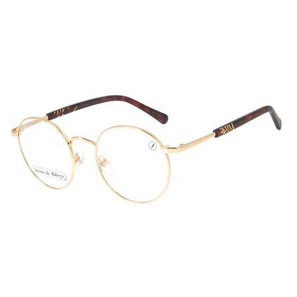 Armação para Óculos de Grau Feminino Loucuras da Nobreza Helena de Troia Dourado Banhado a Ouro LV.MT.0476-2121