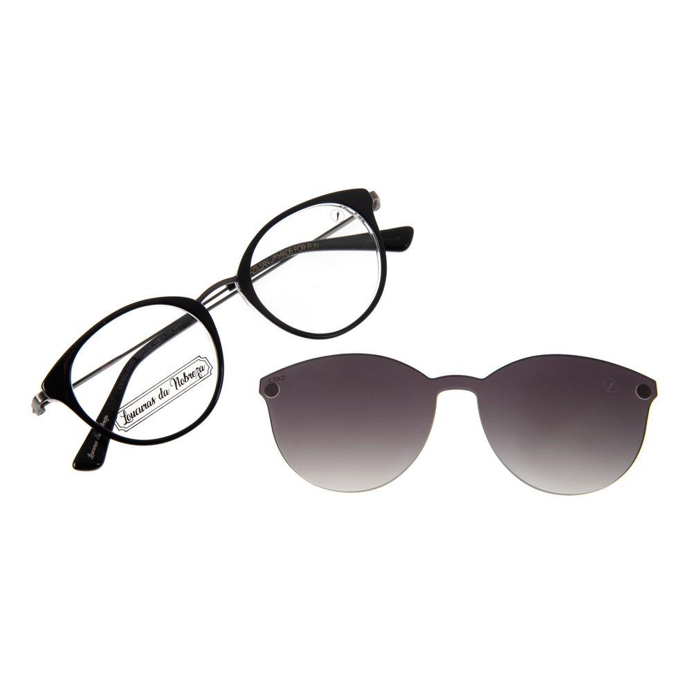 Armação Para Óculos De Grau Feminino Loucuras da Nobreza Romeu e Julieta Multi Preto LV.MU.0509-2001