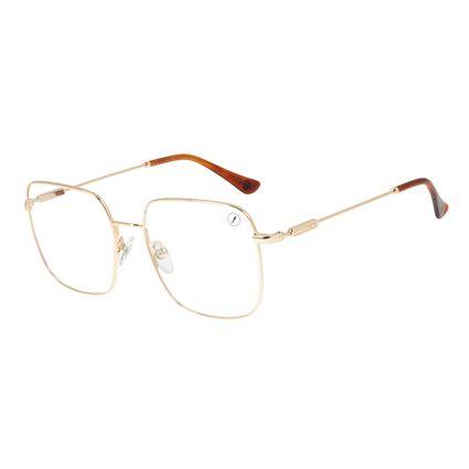 Armação para Óculos de Grau Unissex Loucuras da Nobreza Buda Dourado LV.MT.0477-2121