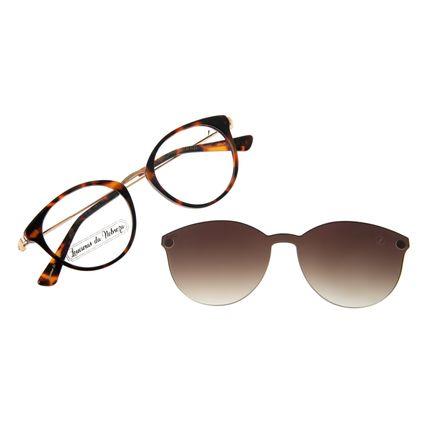 Armação Para Óculos De Grau Feminino Loucuras da Nobreza Romeu e Julieta Multi Tartaruga LV.MU.0509-5706
