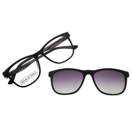 Armação para Óculos de Grau Masculino Loucuras da Nobreza Troia Degradê Preto LV.MU.0504-2001