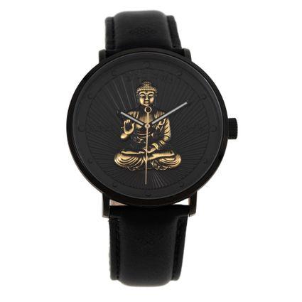 Relógio Analógico Unissex Loucuras da Nobreza Buda Preto RE.CR.0465-0101
