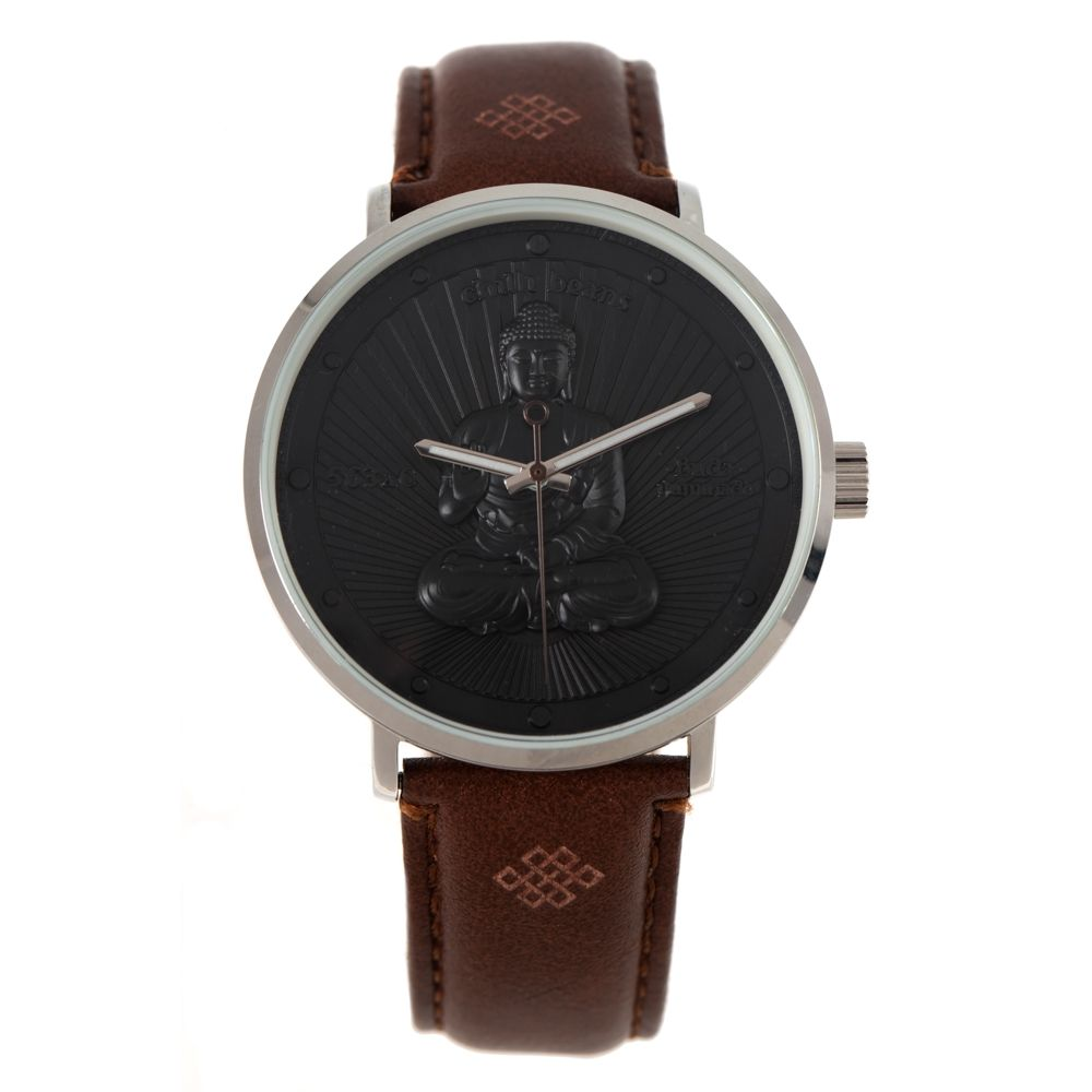 Relógio Analógico Unissex Loucuras da Nobreza Buda Marrom RE.CR.0465-0102