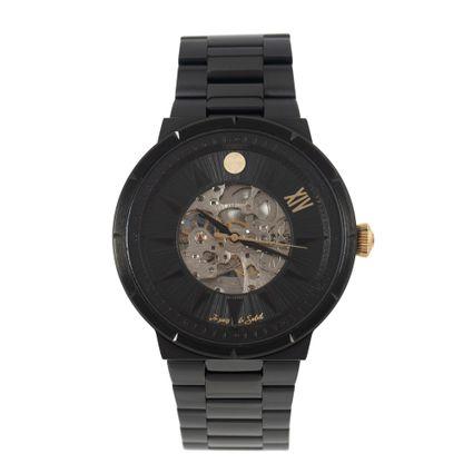 Relógio Automático Masculino Loucuras da Nobreza Luís XIV Rei Sol Preto RE.MT.1145-0101