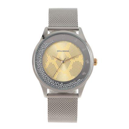Relógio Analógico Feminino Loucuras da Nobreza Cleópatra Metal Prata RE.MT.1154-2107