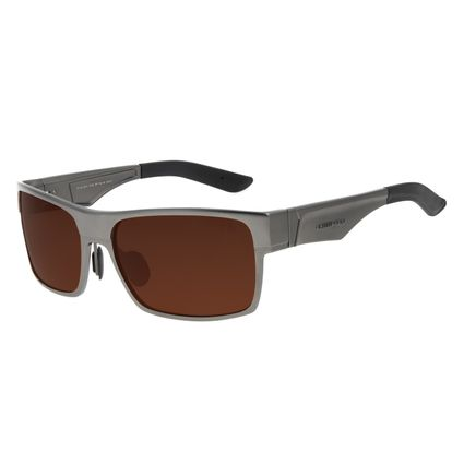 Óculos de Sol Masculino Chilli Beans Esportivo Degradê Marrom Polarizado OC.AL.0212-5722