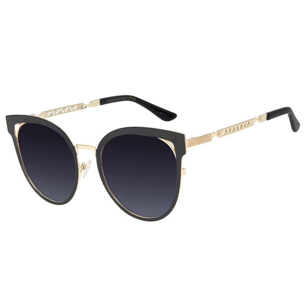 Óculos de Sol Feminino Chilli Beans Redondo Dourado OC.MT.2889-2021