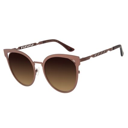 Óculos de Sol Feminino Chilli Beans Redondo Marrom Escuro OC.MT.2889-5747