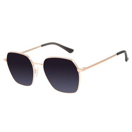 Óculos de Sol Feminino Chilli Beans Quadrado Metal Rosê OC.MT.2885-2095