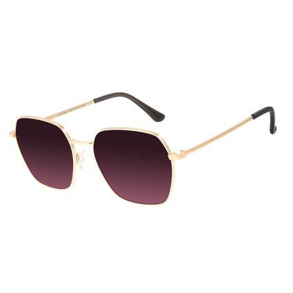 Óculos de Sol Feminino Chilli Beans Quadrado Metal Roxo OC.MT.2885-1495