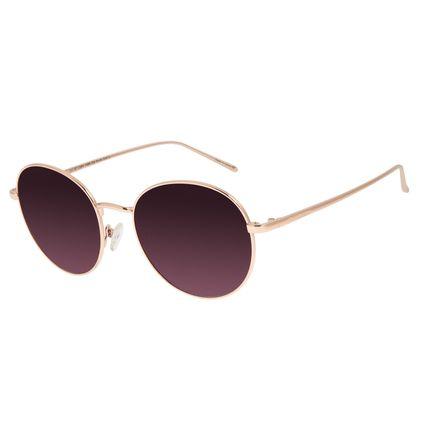 Óculos de Sol Feminino Chilli Beans Redondo Metal Rosê OC.MT.2884-1495