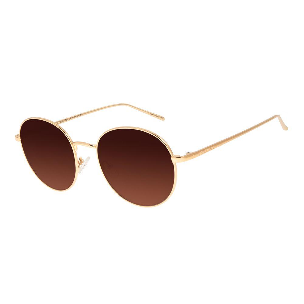 Óculos de Sol Feminino Chilli Beans Redondo Metal Dourado OC.MT.2884-5721