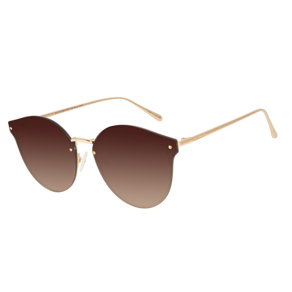 Óculos de Sol Feminino Chilli Beans Gatinho Metal Dourado OC.MT.2883-5721