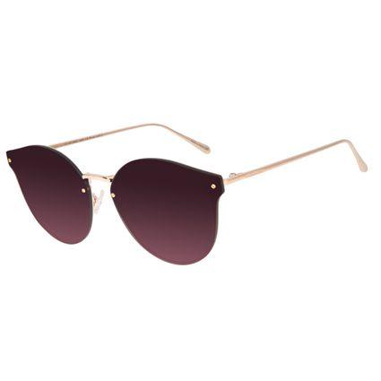 Óculos de Sol Feminino Chilli Beans Gatinho Metal Rose OC.MT.2883-1495