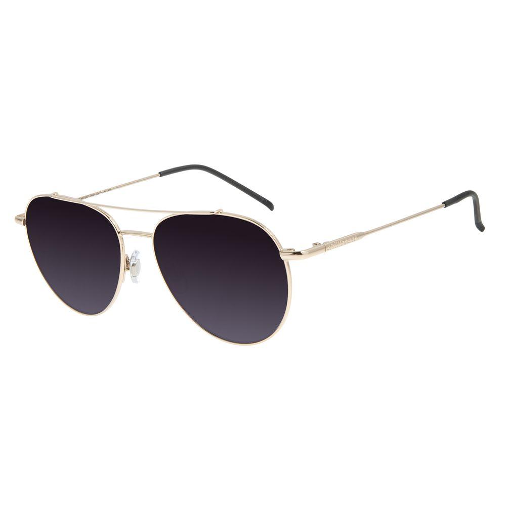 Óculos de Sol Unissex Chilli Beans Aviador Metal Casual Dourado OC.MT.2877-2021