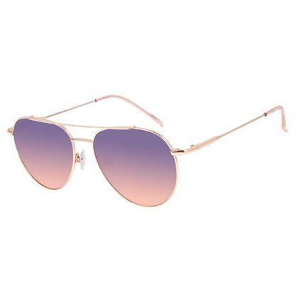 Óculos de Sol Unissex Chilli Beans Aviador Metal Casual Rosê OC.MT.2877-2095