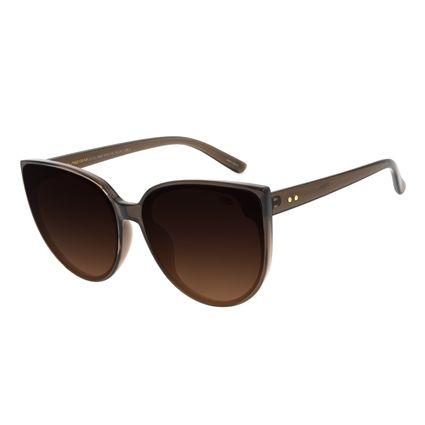 Óculos de Sol Feminino Chilli Beans Redondo Marrom OC.CL.2995-5702