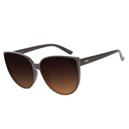Óculos de Sol Feminino Chilli Beans Redondo Degradê Marrom OC.CL.2995-5730