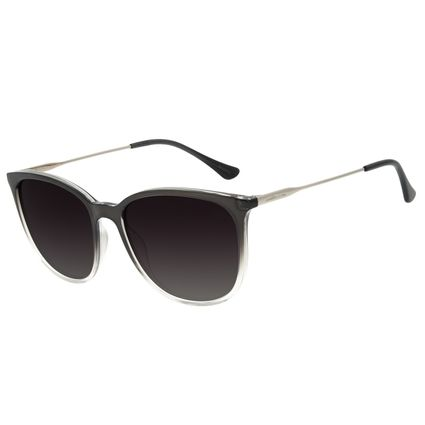 Óculos de Sol Feminino Chilli Beans Redondo Preto Polarizado OC.CL.3046-2001