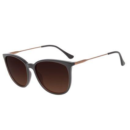 Óculos de Sol Feminino Chilli Beans Redondo Marrom Escuro Polarizado OC.CL.3046-5747