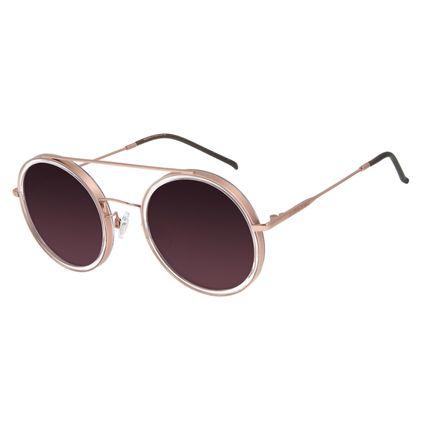 Óculos de Sol Feminino Chilli Beans Trend Redondo Rosê OC.CL.3052-2095
