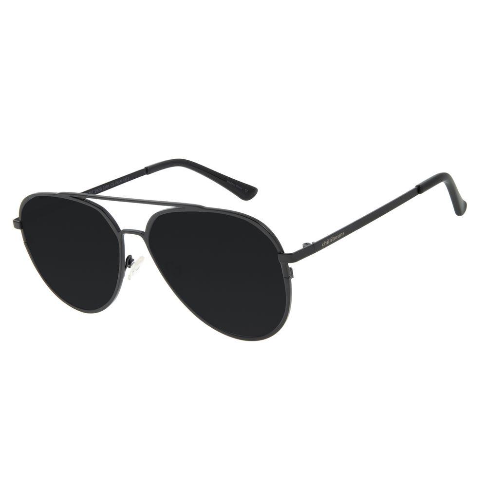 Óculos de Sol Unissex Chilli Beans Aviador Preto OC.MT.2829-0101