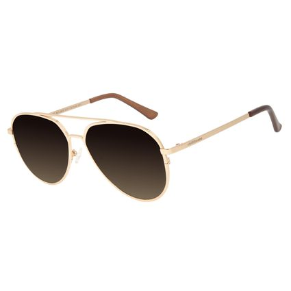 Óculos de Sol Unissex Chilli Beans Aviador Dourado OC.MT.2829-5721