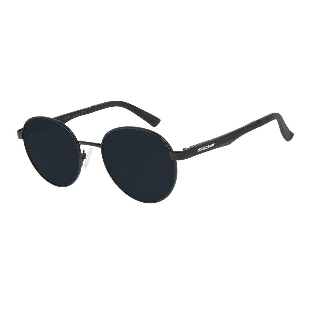 Óculos de Sol Unissex Chilli Beans Redondo Preto OC.MT.2809-0001