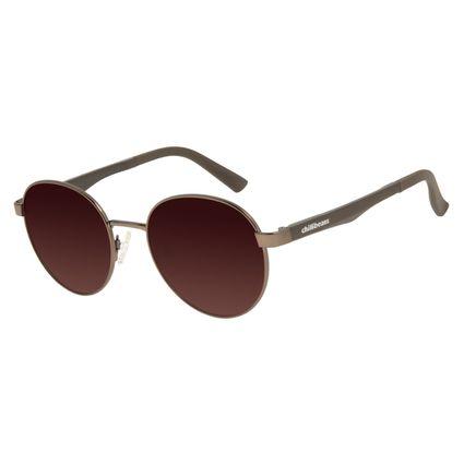 Óculos de Sol Unissex Chilli Beans Redondo Marrom OC.MT.2809-5721