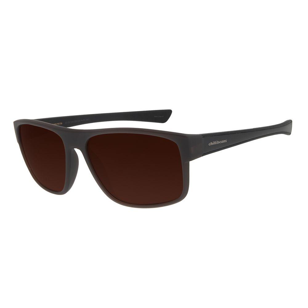 Óculos de Sol Masculino Chilli Beans Performance Marrom OC.ES.1231-0202