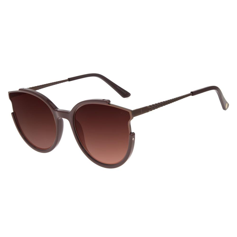 Óculos de Sol Feminino The Beatles SGT. Redondo Degradê Marrom OC.CL.3109-5717