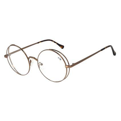 Armação para Óculos de Grau Feminino Chilli Beans Redondo Marrom LV.MT.0438-0202