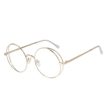 Armação para Óculos de Grau Feminino Chilli Beans Redondo Dourado LV.MT.0438-2121