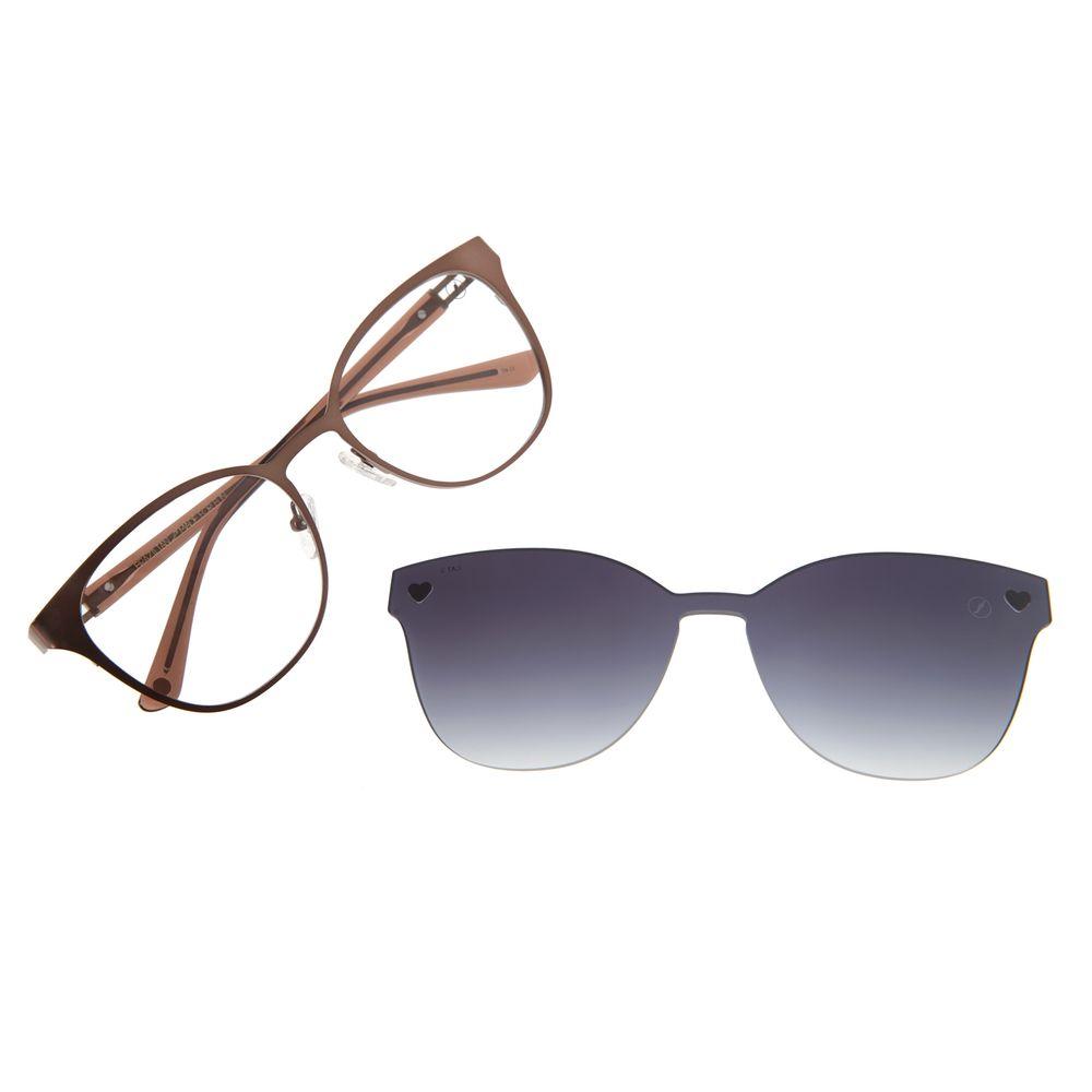 Armação Para Óculos de Grau Feminino Chilli Beans Multi Heart Marrom LV.MU.0233-2002