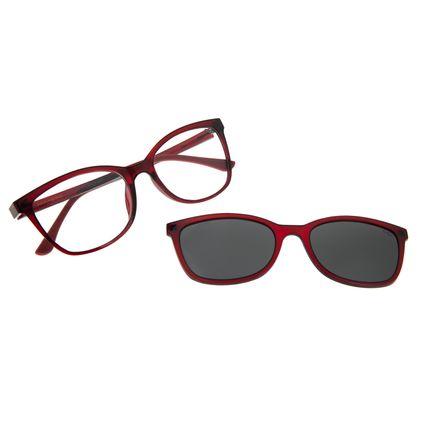 Armação Para Óculos De Grau Feminino Chilli Beans Multi Vinho Polarizado LV.MU.0356-0517
