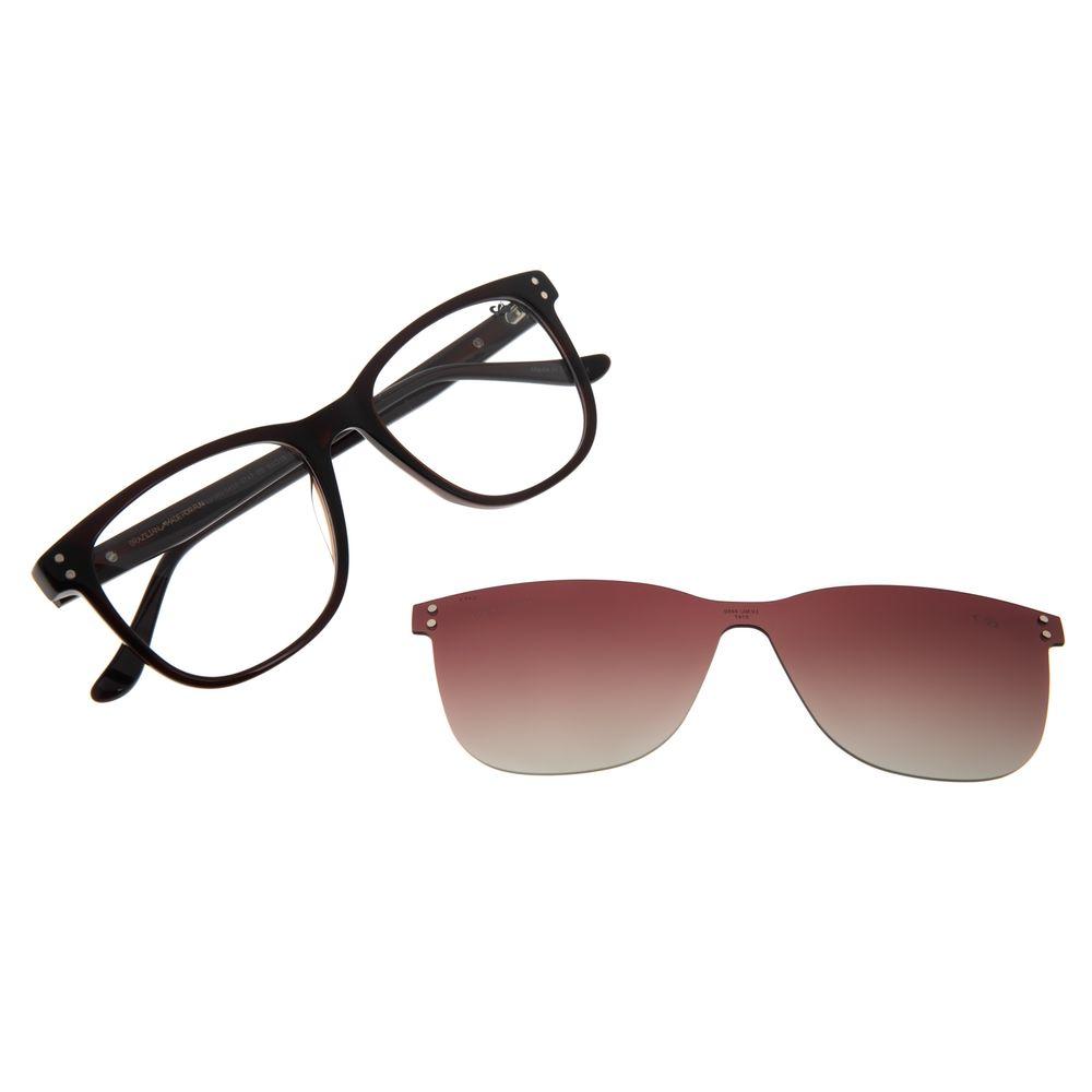 Armação Para Óculos de Grau Feminino Chilli Beans Multi Transparent Marrom Escuro LV.MU.0450-5747