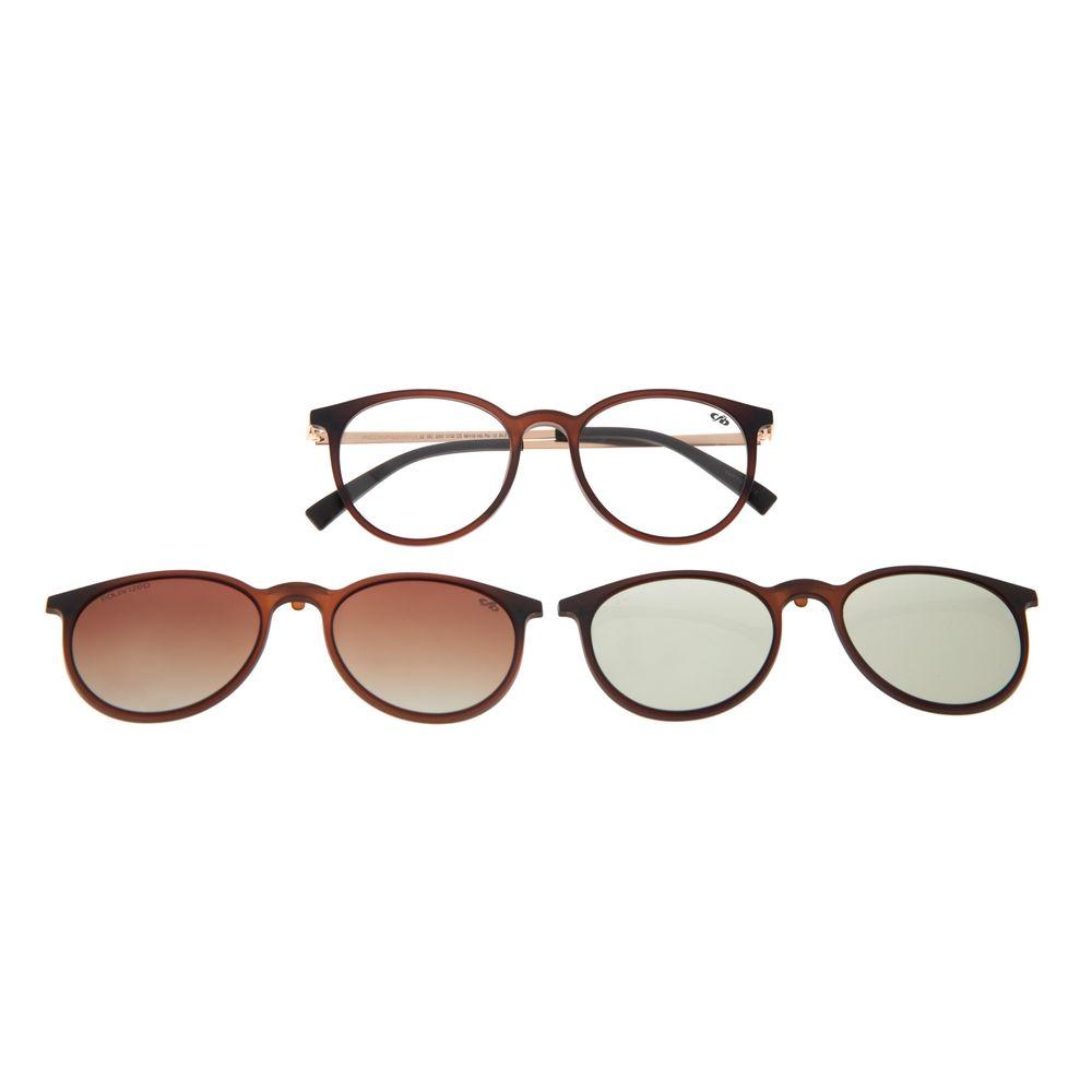 Armação Para Óculos De Grau Feminino Chilli Beans Multi Marrom Polarizado LV.MU.0357-5702