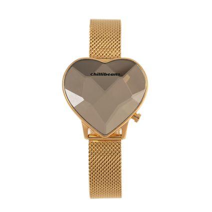 Relógio Digital Feminino Chilli Beans Facetado Dourado RE.MT.1098-2121