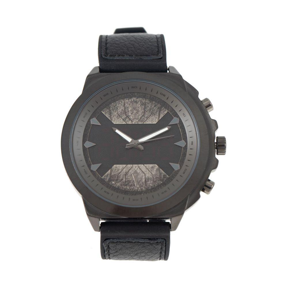 Relógio Digital Analógico Masculino Marvel Pantera Negra Escuro RE.CR.0463-3801