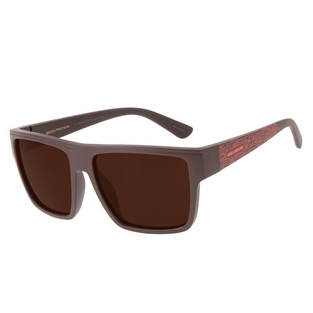 Óculos de Sol Infantil Marvel Homem de Ferro Quadrado Vermelho OC.KD.0664-0216