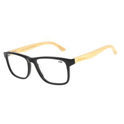Armação Para Óculos De Grau Masculino Chilli Beans Bamboo Quadrado Preto LV.AC.0673-0161