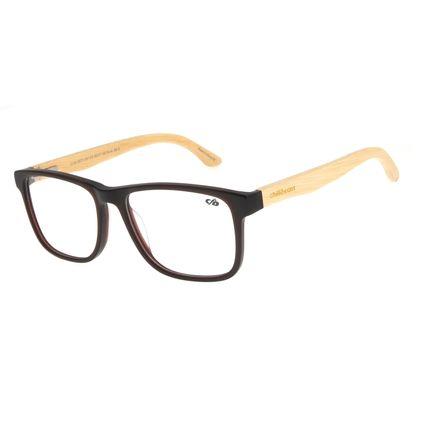Armação Para Óculos De Grau Masculino Chilli Beans Bamboo Quadrado Marrom LV.AC.0673-4761