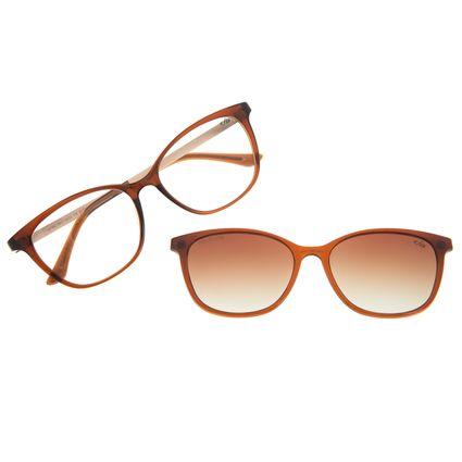 Armação Para Óculos de Grau Feminino Chilli Beans Cat Multi Marrom Polarizado LV.MU.0511-5702