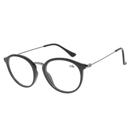 Armação Para Óculos De Grau Feminino Chilli Beans Redondo Preto LV.IJ.0168-0122