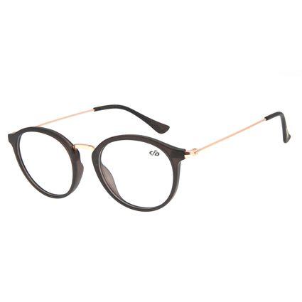 Armação Para Óculos De Grau Feminino Chilli Beans Redondo Marrom LV.IJ.0168-0221